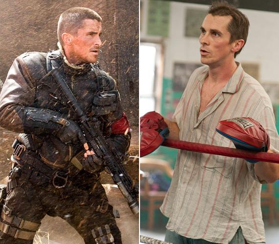 Christian Bale-től is láttunk már néhány látványos átalakulást: a 2009-es Terminator - Megváltásban izmos John Connorként vette fel a harcot a gépek ellen, de 2010-ben már csontsoványan játszotta el Dicky Eklund crackfüggő bokszolót A harcos című drámában - alakításával Oscart és Golden Globe-ot is kapott.