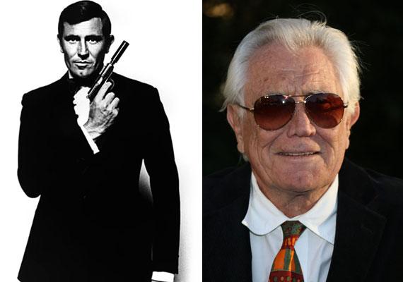 Kevésbé ismert a 76 éves George Lazenby, aki csupán egy epizód erejéig alakította a 007-es titkosügynököt, az 1969-es Őfelsége titkosszolgálatában című részben. Előtte az ausztrál hadsereg különleges alakulatánál szolgált mint közelharcoktató.1968-ra a világ legjobban fizetett férfi modellje lett.