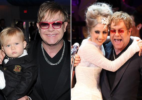 Elton John gyermekének Lady Gaga a keresztanyja.