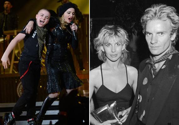 Madonna és Guy Richie fiának Sting és felesége a keresztszülei.