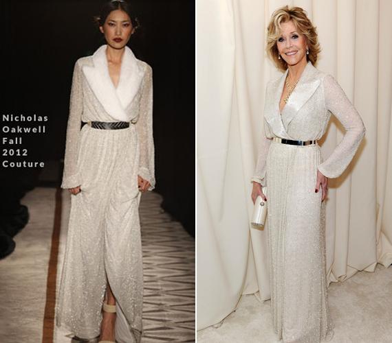 A 76 éves Oscar-díjas színésznő most is elragadóan nézett ki Nicholas Oakwell ruhájában.