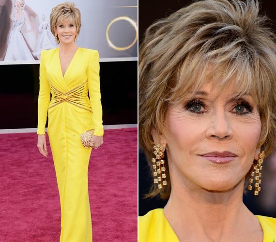 A tavalyi Oscar-gálára kanárisárga ruhában érkezett, és minden szem rászegeződött.