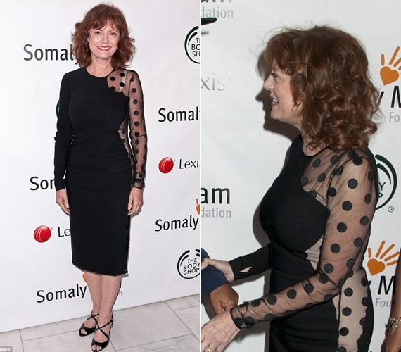 A 65 éves Oscar-díjas Susan Sarandon októberben a New York-ban rendezett Somaly Mam Foundation jótékonysági gálán volt látható a ruhában.