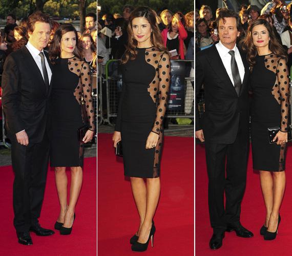 A brit Oscar-díjas színész, Colin Firth felesége, Livia Giuggioli szeptemberben a Tinker Tailor Soldier Spy című film londoni premierjén varázsolta el az angliai közönséget a rafinált kis feketével.