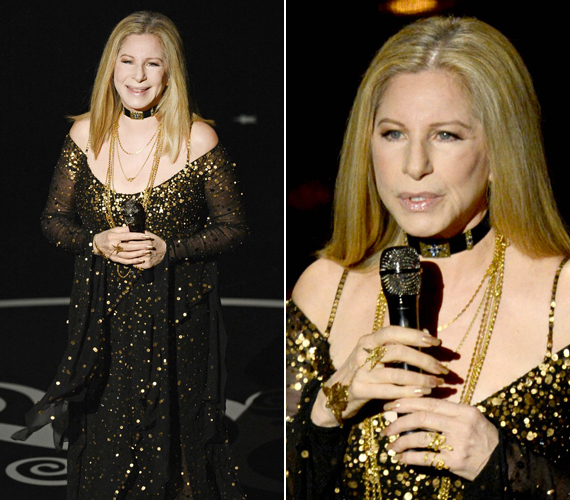 Oprah Winfrey szavaival élve a 70 éves Barbra Streisand a klasszikus eleganciát képviselte a 85. Oscar-gálán.