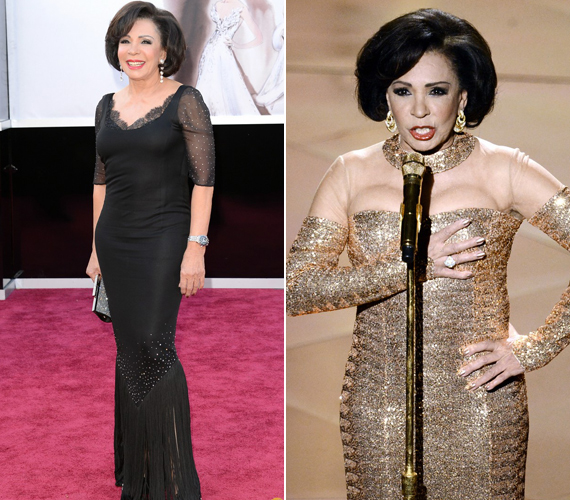 A 76 éves Shirley Bassey az egyik James Bond-film, a Goldfinger betétdalát adta elő. A színésznőt hatalmas ovációval ünnepelték.
