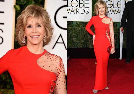 A Golden Globe-díjátadóra igazán fiatalos ruhát választott magának a sztár. De miért is ne tette volna, alakja olyan, mint egy 20 évesé.