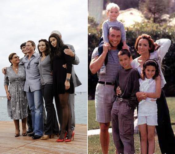 A Van Damme család napjainkban és egykor. Biancának két testvére van: Kristopher és a féltestvére, Nicholas. Utóbbi szintén játszott már apja filmjeiben.