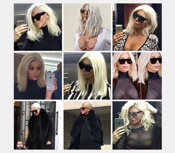 Jelena Karleusha tette ki ezt a montázst az Instagramra, követőit pedig arra kérte, játsszanak vele: vajon melyik fotón van ő és melyiken Kim Kardashian? (Megoldás balról jobbra, felülről lefelé: Jelena, Jelena, Jelena / Kim, Jelena, Kim / Kim, Jelena, Jelena)