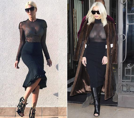 Jelena tavaly posztolt fotójára kísértetiesen hasonlít Kim néhány napos párizsi szettje, még a napszemüvegük is ugyanolyan!