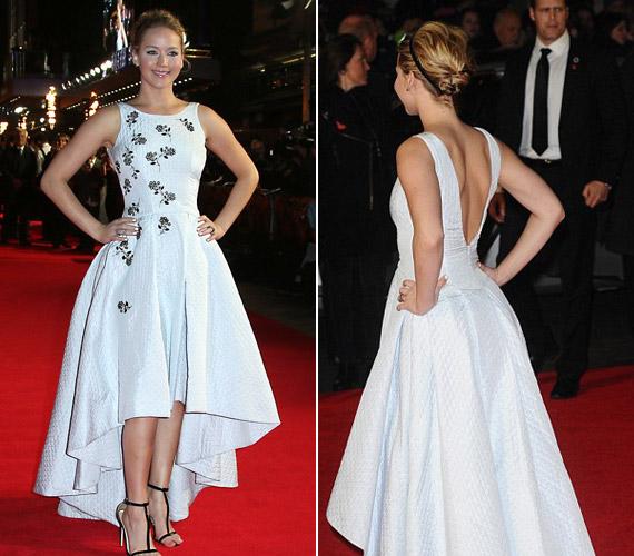Fehér Dior ruhájában csak úgy tündökölt az Oscar-díjas színésznő.