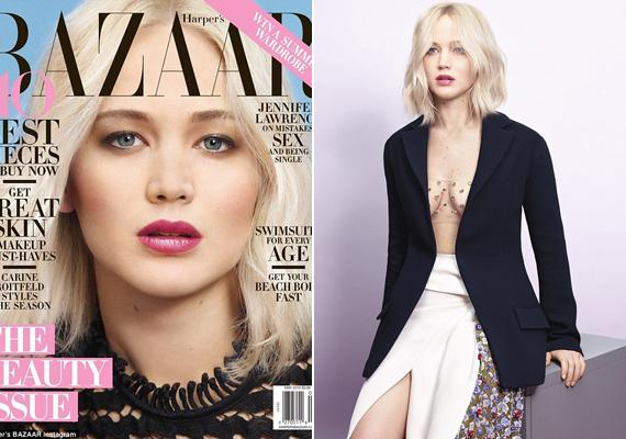 Nem sűrűn ilyen bevállalós: ezúttal csak néhány kristály takarja a színésznő kebleit a Harper's Bazaarnak készült fotókon.