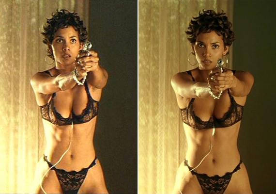 Halle Berry bevállalósra vette a figurát a 2001-es Kardhal című filmjében. Ilyen szexin még senki nem fogott fegyvert, az biztos.