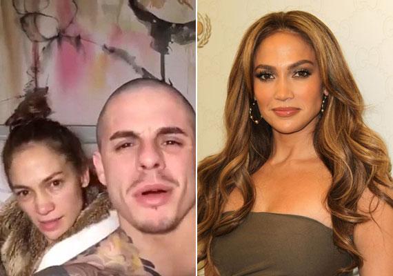 Jennifer Lopez biztosan nem fogja megköszönni 28 éves barátjának, Casper Smartnak azt, hogy ország-világ előtt mutatta meg a szexi díva kialvatlan, smink nélküli arcát. A bal oldali fotón szinte felismerhetetlen, amíg a jobb oldali fotón talpig sminkben tündököl.