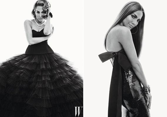 Giambattista Valli fekete tüllkreációjában Jennifer Lopez az egykori szexikonra, Marilyn Monroe-ra emlékeztet bennünket.