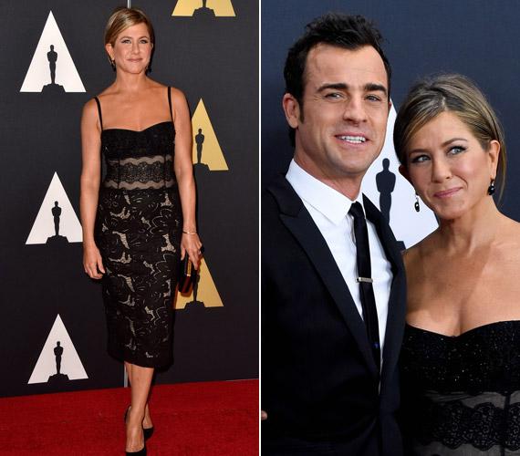 Jennifer Aniston csipkeruhájában magára vonzotta a tekinteteket.