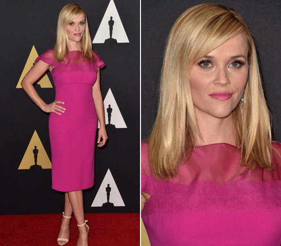 Reese WitherspoonRalph Lauren ruhát választott az eseményre.