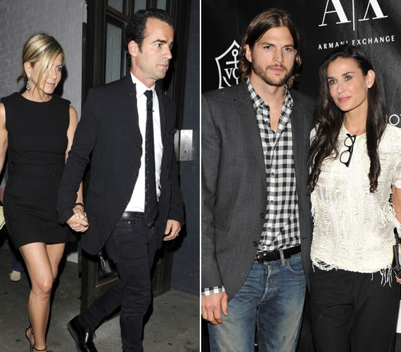 A 42 éves Jennifer Aniston egyébként élete legboldogabb időszakát éli, Justin Theroux-val már össze is költözött, míg Demi már hat éve a szépfiú Ashton Kutcher felesége.