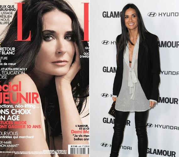 Demi Moore 2011-ben a Margin Call és a Laughing Out Loud című komédiát forgatta, címlaplánynak pedig utoljára a francia Elle kérte fel februárban.