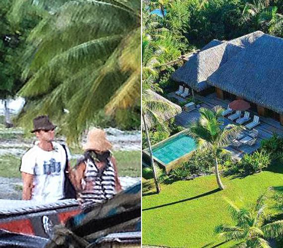 Augusztus 7-én már az első Bora Borán készült lesifotó is megjelent a mézesheteket töltő párról. Több magazin azt valószínűsíti, hogy a sztárpár az itt látható gyönyörű hotelben, az Otemanu Luxury Beachfront Villában szállt meg.