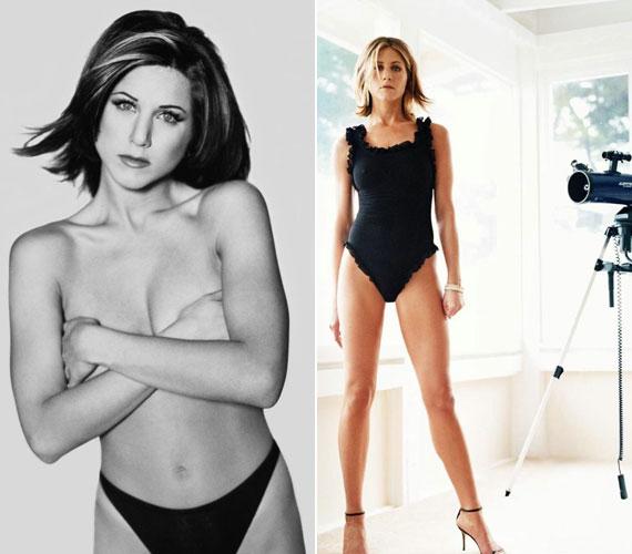 Persze láthattunk már Jennifer Anistontól ledérebb fehérneműs képeket is, fiatalabb és idősebb korában egyaránt.