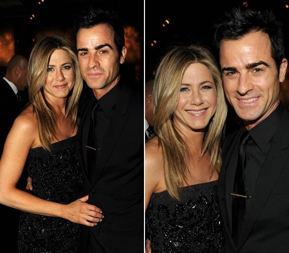 Az eseményre párja, Justin Theroux kísérte el, aki kedveséhez igazodva szintén a klasszikus fekete színt választotta.