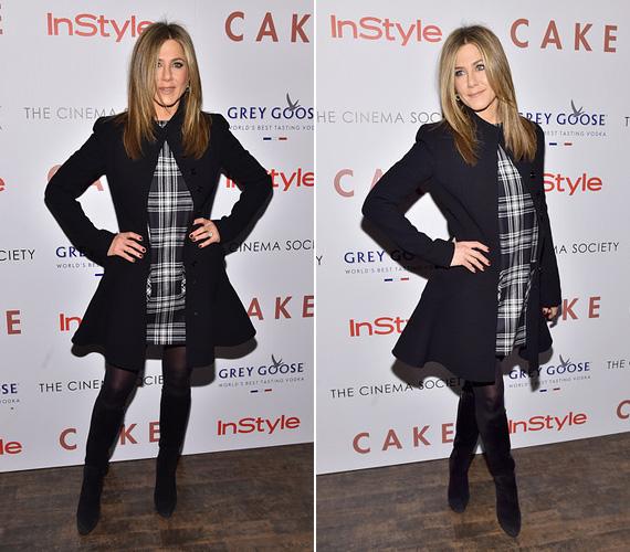 November 16-án a Cake című filmjének volt a premierje Nem Yorkban, az eseményen a színésznő egy kockás ruhát viselt fekete kabáttal.