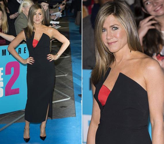 Alig pár nappal korábban, november 13-án még Londonban tartózkodott, ahol az Odeon mozi mutatta be a Förtelmes főnökök 2 című vígjátékát. A sztár fekete, alakot hangsúlyozó ruháját a piros betét tette különlegessé.
