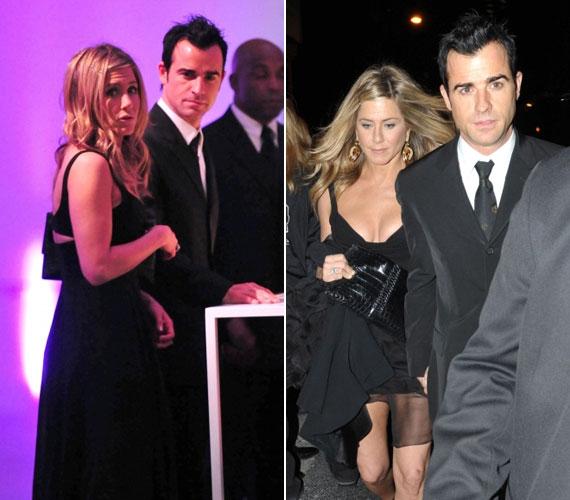 A gálára elkísérte párja, Justin Theroux is, akivel 2011 májusában jött össze.