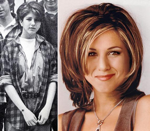 A legendás Rachel Green frizurája már ekkor kialakulóban volt.