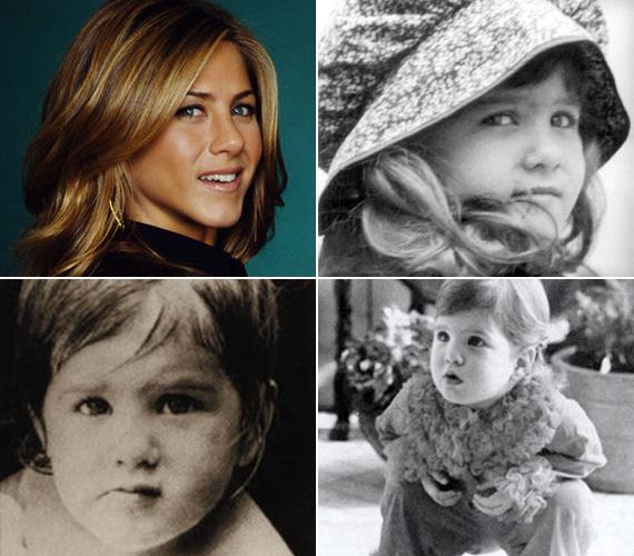 Ugyanaz a huncut tekintet több mint 40 év elteltével. Aniston tündérien nézett ki kisbabaként.