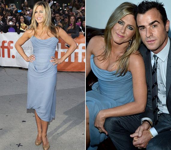 Tavaly is megjelent Torontóban, akkor egy testre simuló kék ruhát választott, mely remekül állt neki.