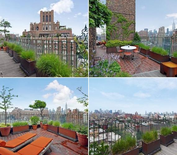 A körbejárható teraszról csodás kilátás nyílik a nyüzsgő nagyvárosra és a Hudson folyóra, így Jennifer gyakorlatilag a city felett romantikázhat Justinnal.