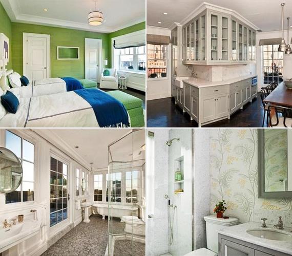 A háború előtti épületben Aniston lakosztálya két szintet foglal el, a kívül-belül renovált apartmant az ingatlanosok két évig szépítgették, mielőtt eladásra bocsátották.