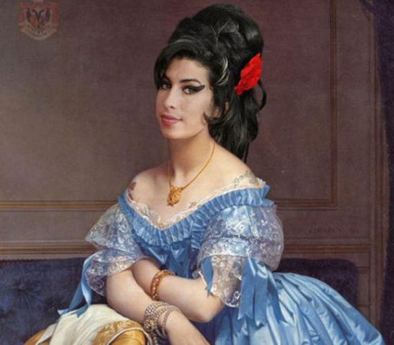 Amy Winehouse vállára még a tetoválásait is odarakták.