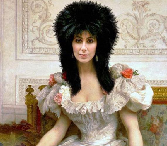 Nehéz eldönteni, hogy az egy kucsma Cher fején, vagy a haja.