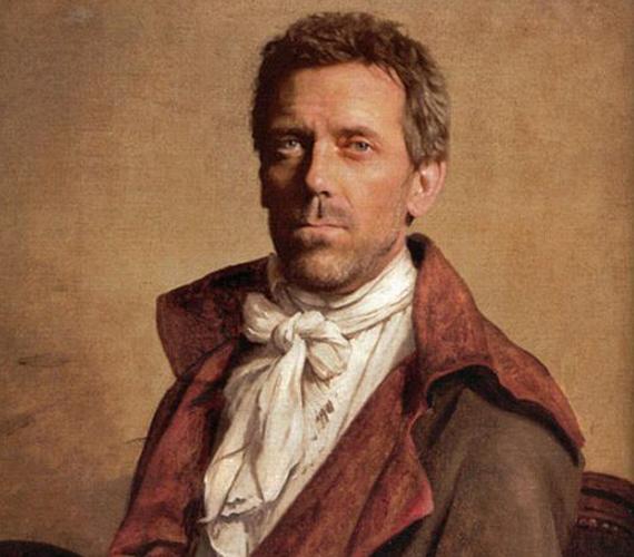 Hugh Laurie a megtestesült jó modor. Már a képen.