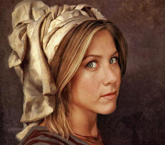 Jennifer Aniston parasztlánykaként.