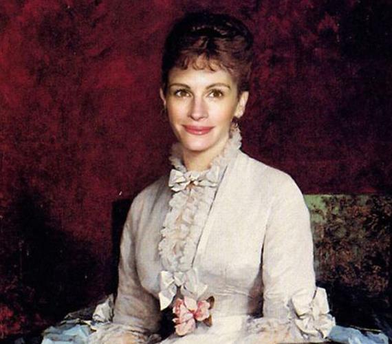 Julia Roberts is úgy mosolyog, mintha valóban modellt ült volna.