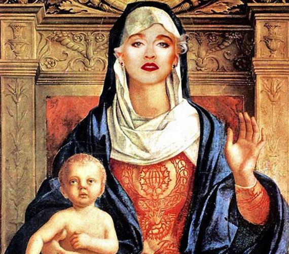 Madonna képe bár merész, adta magát.