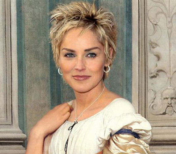 Sharon Stone már nem annyira illik a képbe rövid hajával.