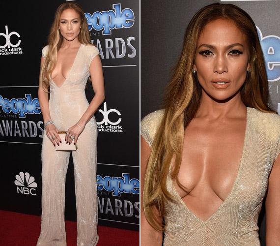 Jennifer Lopez nem hazudtolta meg magát,Naeem Khan ruhája nem sokat bízott a fantáziára.