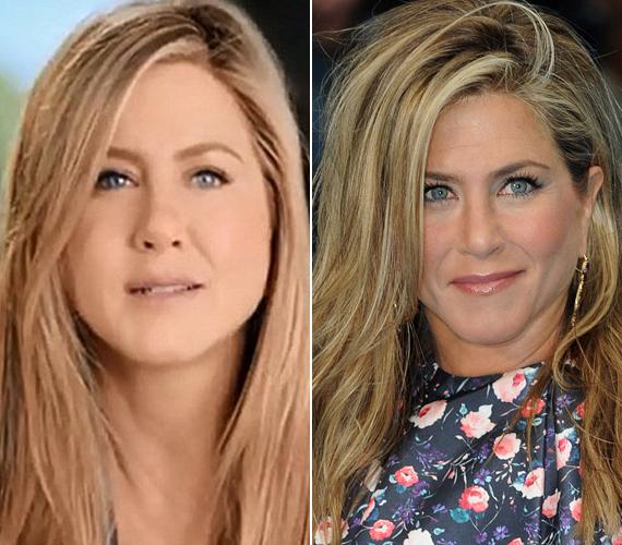 A Youtube-on terjedő videóban kicsit túlságosan fogott a retus Jennifer Anistonon.