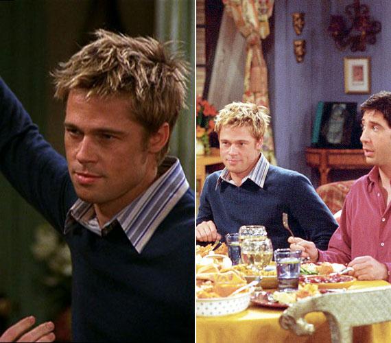 Brad Pitt a Jóbarátokban is szerepelt. A nyolcadik évad kilencedik, A pletyka című részben az akkor még tökéletes álompárnak számító Pitt-Aniston páros egymást ki nem állható embereket játszott.