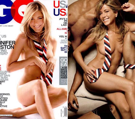 Jennifer Aniston a GQ 2009-es januári címlapjával beállt a legszexisebb címlaplányok sorába, a borító pedig a legbotrányosabb címlapok közé került.