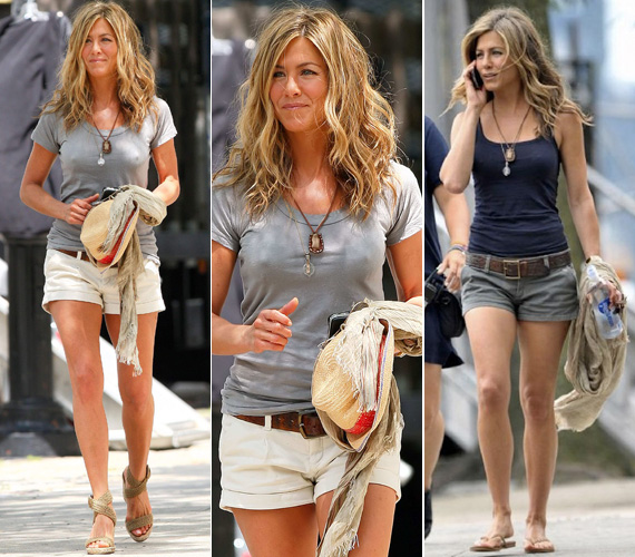 A sort az a ruhadarab, amely tökéletesen illik Jennifer Aniston alakjához és személyiségéhez.