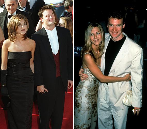 1995-ben az Emmy-gálára Jóbarátok-béli kollégájával, Matthew Perryvel érkezett, de köztük nem volt több barátságnál. A színésznőnek ekkor az a bizonyos Rachel-haja volt, amit ő utált, a nők viszont imádtak. Tate Donovannel két évvel később egy premieren fotózták: vele 1995 és 1998 között járt, állítólag már az eljegyzés is megvolt, de végül szakítottak.