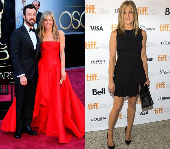 A 2013-as Oscar gálán az est egyik legszebbje volt tűzpiros ruhájában, a szerelemtől ragyogva párja, Justin Theroux oldalán, és miniben is egyre többet mutatkozott - mint itt, a Cake egyik 2014-es premierjén.