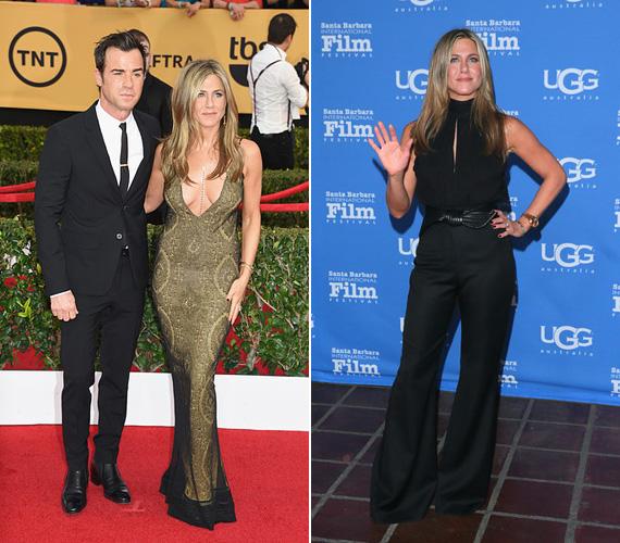 2015-re úgy tűnik, végleg révbe ért a színésznő: szexi, sugárzó, színészileg is megtalálta önmagát. Ha akarja, megvillantja dekoltázsát, mint januárban, a SAG díjkiosztó gáláján, ha pedig úgy tartja kedve, dögös nadrágos összeállítást választ, mint a Montecito-díjkiosztón. Nem erőlködik, nem akar fiatalabbnak tűnni, mégis, Jennifer Aniston példája bizonyítja, hogy egy nő 40 fölött igazán szexi.
