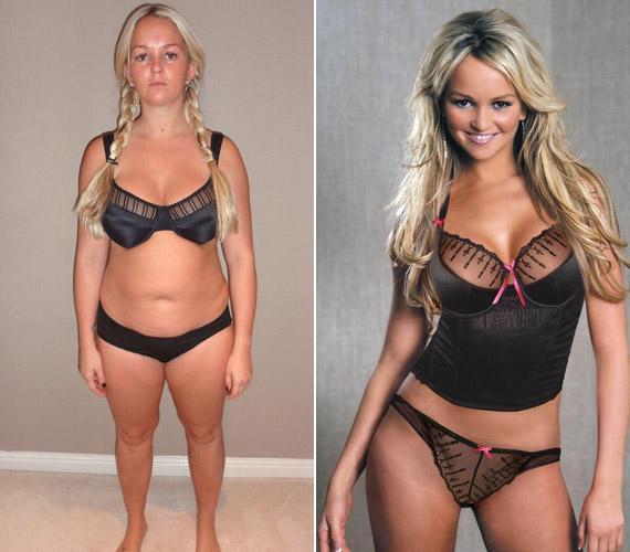 A változás látványos, de a színésznő nem szégyelli a plusz kilókat.